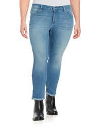 Jessica Simpson Plus Forever Rolled Skinny Jeans Blue