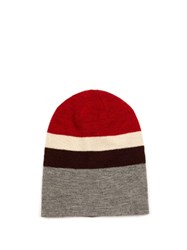 Etoile Isabel Marant Dreamy Striped Beanie Hat Red Multi
