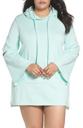 Make Model Plus Size All The Stops Hoodie Green Lily