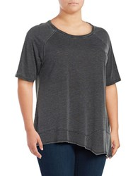 Calvin Klein Performance Plus Asymmetrical Jersey Knit T Shirt Blue