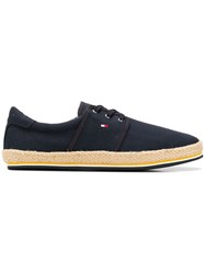 Tommy Hilfiger Lace Up Espadrilles Blue