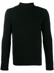 Malo Cashmere Knit Jumper Black