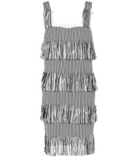 Prism Nevis Fringed Cotton Dress Black