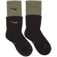 Nike Black And Green Mmw Edition Te Socks