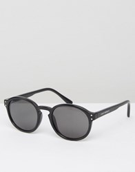 Cheap Monday Round Sunglasses In Black Black