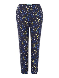 Dickins And Jones Floral Printed Tailored Trouser Navy
