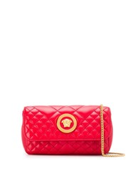Versace Medusa Head Quilted Bag Red