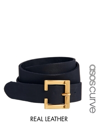 Asos Curve Leather Waist Belt Black