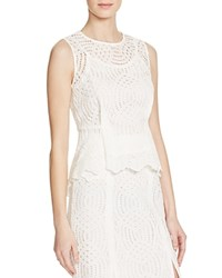 Whistles Clementine Lace Peplum Top 100 Bloomingdale's Exclusive Ivory