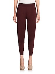 Stella Mccartney Virgin Wool And Silk Knit Jogger Pants Plum
