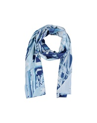 Closed Oblong Scarves Sky Blue