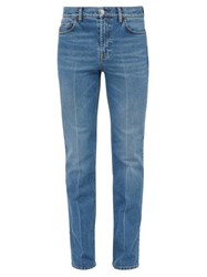 Balenciaga Pressed Stretch Cotton Jeans Blue