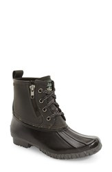 G.H. Bass Women's And Co. Danielle Waterproof Duck Boot Dark Grey Black Leather