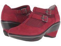 Jambu Sylvie Deep Red Women's Wedge Shoes
