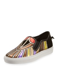 Givenchy Metallic Patchwork Skate Sneaker Multi Multi Color