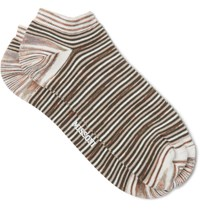 Missoni Space Dyed Cotton Blend Socks Brown