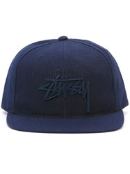 Stussy Embroidered Logo Cap Blue