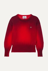 Vivienne Westwood Spray Paint Embroidered Cotton Sweater Small