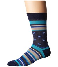 Etro Bold Striped Socks Blue