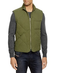The Men's Store At Bloomingdale's Quilted Vest Military Olive