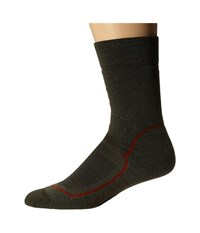 Icebreaker Hike Medium Crew 1 Pair Pack Cargo Red Ivy Heather Men's Crew Cut Socks Shoes Black