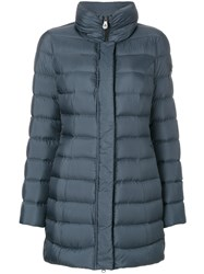 Peuterey Padded Coat Women Feather Down Polyester 42 Blue