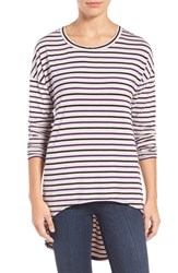 Kut From The Kloth Women's Mindy Stripe High Low Tee