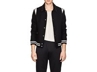 Valentino Rockstud Wool Teddy Jacket Black