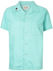 Hysteric Glamour Bonnie And Clyde Embroidered Shirt Cotton Linen Flax Green