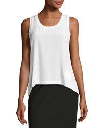 Rag And Bone Sora Silk Combo Shell Tank White
