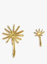 Alex Monroe Dandelion Stud Earrings Gold