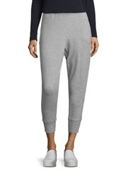 Vince Cropped Jogger Pants Heather Steel