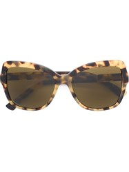Dolce And Gabbana Oversized Butterfly Sunglasses Brown