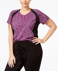 Ideology Plus Size Space Dyed Performance T Shirt Only At Macy's Holiday Multi