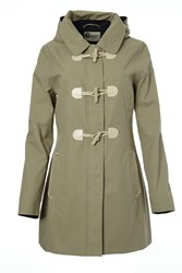 Covert Overt Cotton Hooded Toggle Jacket Green