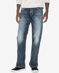 Silver Jeans Co. Men's Zac Relaxed Straight Fit Stretch Indigo