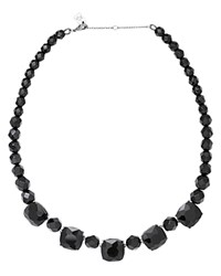 Ralph Lauren Faceted Jet Bead Necklace 18 Hematite