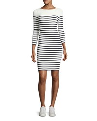 Alexander Wang Long Sleeve Striped Mini Dress White