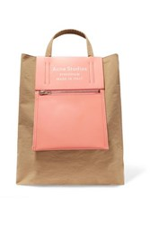 Acne Studios Baker Canvas And Leather Tote Peach
