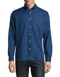 Brooks Brothers Linen And Cotton Sportshirt Navy