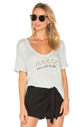 Wildfox Couture Goin' With The Flow Tropezienne Tee Gray