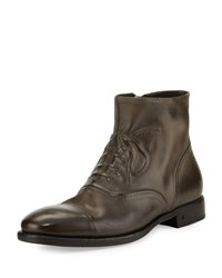 John Varvatos Fleetwood Ghosted Lace Up Ankle Boot Gray