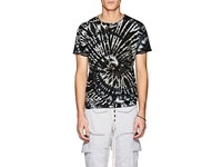 Nsf Tie Dyed Cotton T Shirt Blue
