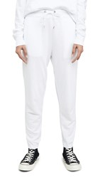 James Perse Fleece Pullon Sweatpants White