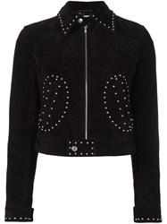 Saint Laurent Studded Jacket Black