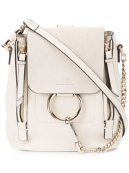 Chloe Mini Faye Backpack Women Leather One Size Nude Neutrals
