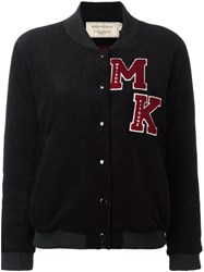 Maison Kitsune Logo Patch Bomber Jacket Black