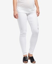 Motherhood Maternity White Wash Skinny Jeans