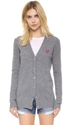 Mcq By Alexander Mcqueen Swallow Cardigan Grey Melange