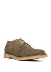 Vince Stetson Suede Lace Up Shoes Dark Olive